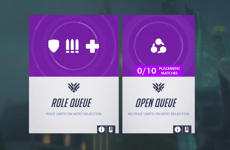 Open queue and Role queue on Overwatch